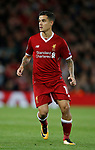 Philippe Coutinho of Liverpool in action during the Champions League Group E match at the Anfield Stadium, Liverpool. Picture date 13th September 2017. Picture credit should read: Simon Bellis/Sportimage