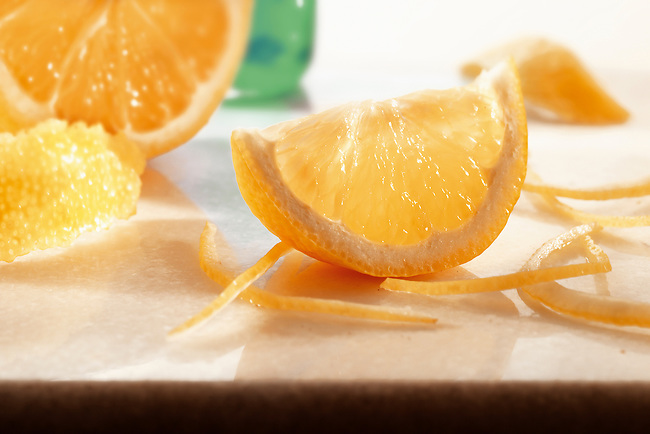 Fresh orange slice