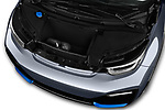 Car stock 2018 BMW i3 S 5 Door Hatchback engine high angle detail view