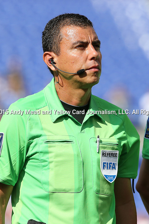 18 July 2015: Fourth Official Joel Aguilar (SLV). The United States Men's National Team played the Cuba Men's National Team at M&T Bank Stadium in Baltimore, Maryland in a 2015 CONCACAF Gold Cup quarterfinal match. The U.S. won the game 6-0.