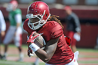 NWA Democrat-Gazette/MICHAEL WOODS &bull; @NWAMICHAELW<br /> University of Arkansas tight end Will Gragg runs drills during practice Thursday, August 20, 2015 in Fayetteville.
