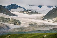 Gakona Glacier flows out of the Alaska Range mountains, Interior, Alaska