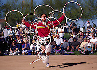 Many tribes compete at the WORLD CHAMPIONSHIP HOOP DANCE CONTEST - HEARD MUSEUM, PHONEIX, ARIZONA