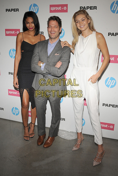 New York,NY- October 29: Chanel Iman, Nate Berkus, Gigi Hadid attends the red carpet at the Sprout by HP and HP Multi Jet Fusion 3D Printer Launch Event in New York City on October 29,2014.   <br /> CAP/RTNSTV<br /> &copy;RTNSTV/MPI/Capital Pictures