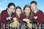 Flip side to fundraising: Lyreacrompance National School pupils who enjoyed the fundraising Pancake Morning on Tuesday were Emma Lyons, Rachel Murphy, Mairead McKenna and Richie O'Regan.