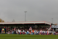 The teams take to the field during Arsenal Women vs Liverpool Women, Barclays FA Women's Super League Football at Meadow Park on 24th November 2019