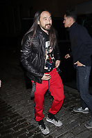 NEW YORK, NY - FEBRUARY 8: Steve Aoki  arrives at Jeremy Scott Fashion Show at New York Fashion Week at Spring Studios on February 8, 2018 in New York City. <br /> CAP/MPI99<br /> &copy;MPI99/Capital Pictures