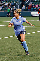 Rochester, NY - Saturday May 21, 2016: Sky Blue FC midfielder Shawna Gordon (2). The Western New York Flash defeated Sky Blue FC 5-2 during a regular season National Women's Soccer League (NWSL) match at Sahlen's Stadium.