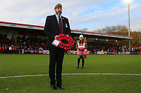 Wreath is laid for Armistice Day during Stevenage vs Notts County, Sky Bet EFL League 2 Football at the Lamex Stadium on 11th November 2017