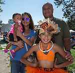 Frances, Savannah, Tevita and Aaliyeh during the Aloha Festival in Reno on Saturday, August 27, 2016.