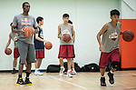 NBA's player and Red Bull athlete Rajon Rondo conducts a workshop ahead the Red Bull King of the Rock Hong Kong at the South China Athletic Association Stadium on August 31, 2012 in Hong Kong. Photo by Victor Fraile / The Power of Sport Images