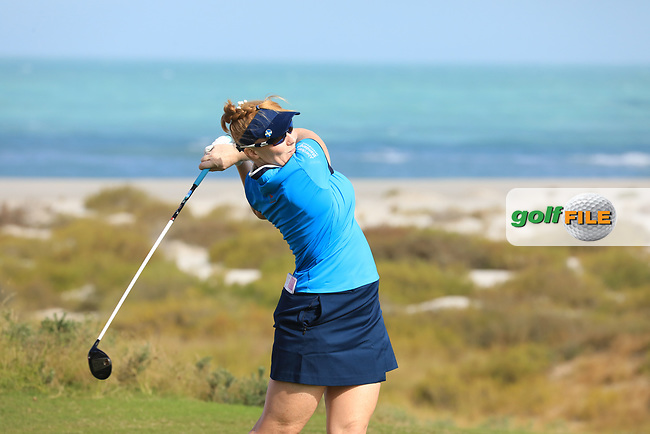 Kylie Henry (SCO) during the second round of the Fatima Bint Mubarak Ladies Open played at Saadiyat Beach Golf Club, Abu Dhabi, UAE. 11/01/2019<br /> Picture: Golffile | Phil Inglis<br /> <br /> All photo usage must carry mandatory copyright credit (&copy; Golffile | Phil Inglis)