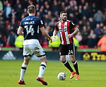Daniel Lafferty of Sheffield Utd in action during the championship match at the Bramall Lane Stadium, Sheffield. Picture date 14th April 2018. Picture credit should read: Simon Bellis/Sportimage