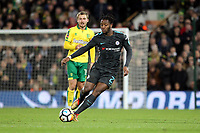 Michy Batshuayi of Chelsea with the ball during Norwich City vs Chelsea, Emirates FA Cup Football at Carrow Road on 6th January 2018
