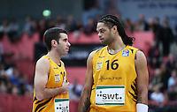 Basketball  1. Bundesliga  2016/2017  Hauptrunde  17. Spieltag  30.12.2016 Walter Tigers Tuebingen - FRAPORT SKYLINERS Frankfurt Enttaeuschung Tigers; Jared Jordan (li) und Gary McGhee