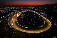 Aerial View of the California Speedway (Now the Auto Club Speedway) at sunset