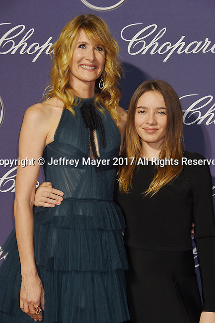 PALM SPRINGS, CA - JANUARY 02: Actress  Laura Dern (L) and daughter Jaya Harper attend the 28th Annual Palm Springs International Film Festival Film Awards Gala at the Palm Springs Convention Center on January 2, 2017 in Palm Springs, California.