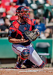 25 February 2019: Atlanta Braves catcher Tyler Flowers in action during a pre-season Spring Training game against the Washington Nationals at Champion Stadium in the ESPN Wide World of Sports Complex in Kissimmee, Florida. The Braves defeated the Nationals 9-4 in Grapefruit League play in what will be their last season at the Disney / ESPN Wide World of Sports complex. Mandatory Credit: Ed Wolfstein Photo *** RAW (NEF) Image File Available ***