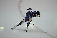 SCHAATSEN: HEERENVEEN: 01-02-2014, IJsstadion Thialf, Olympische testwedstrijd, Sang-Hwa Lee, ©foto Martin de Jong
