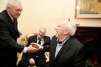 5/11/07 Taoiseach Bertie Ahern Peter and Alex Bradley at the opening of Peter Bradley Foundation Residential Home.at 153 Mobhi Road, Glasnevin, Dublin Picture:Arthur Carron/Collins