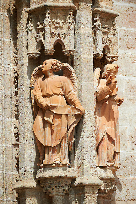 Gothic Angel statues on the Cathedral of Seville Spain