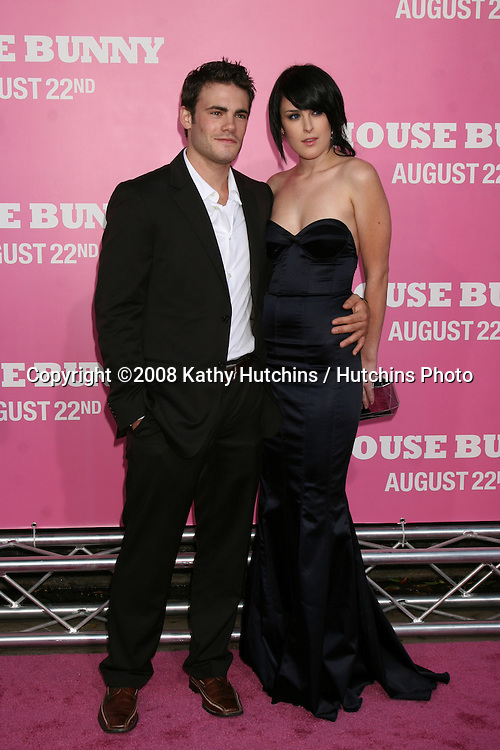 """Rumer Willis & Guest on the red carpet arrivimg at the premiere of """"House Bunny"""" at the Mann's Village Theater in Westwood, CA on.August 20, 2008.©2008 Kathy Hutchins / Hutchins Photo...."""
