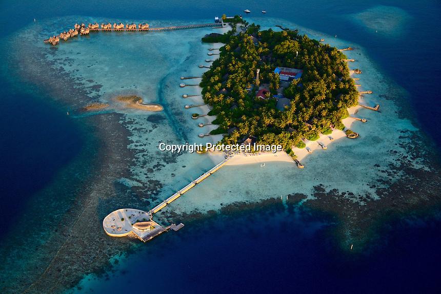 Nika Island Resort, Kudafolhudhoo, North Ari Atoll, Alifu Alifu Atoll, Republic of Maldives, Indian Ocean, Asia, Aerial Photography