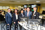 At the opening of the new JRI offices in the Kerry Technology Park were Martin Shanahan, IDA, Kylie Watson, SMBC, Tomoyuki Kawanaka, JRI Tokyo, Shane Walsh, CEO JRI, Minister of State for the Diaspora Jimmy Deenihan, Michael O'Dea, JRIA, SMBC,