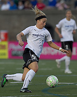 magicJack forward Ella Masar (55) on the attack. In a Women's Professional Soccer (WPS) match, the Boston Breakers defeated magicJack, 2-1, at Harvard Stadium on June 5, 2011.
