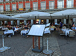 Hegar restaurant, Plaza Mayor, Madrid, Spain central square tourist attraction in the heart of the city
