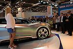 MADRID, Spain (20/05/10).- IFEMA. Salon del vehiculo ecologico. Presentacion mundial del Hyundai i-flow...MADRID, Spain (20/05/10).- International Motor Ecological Madrid. The world premiere presentation of Hyundai i-flow...PHOTO: Raul Perez / ALFAQUI.