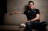Bob Jungels <br /> <br /> editorial portrait at the Team Deceuninck-QuickStep january 2020 training camp in Calpe, Spain<br />  <br /> ©kramon