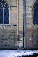 Norwich: Norwich Cathedral--Detail of Wall. Photo '90.