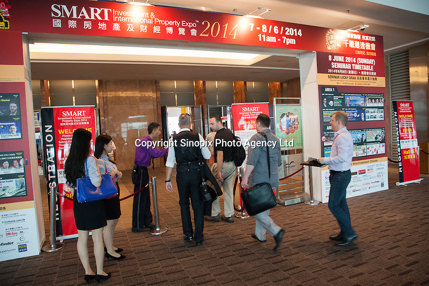 Smart International Property Investment Expo at the Hong Kong Convention and Exhibition Centre in Hong Kong. <br /> 07-08 June, 2014<br /> <br /> Photo by Tim O'Rourke / Sinopix