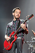 Linkin Park - rhythm guitarist and MC Mike Shinoda performing live main stage as the headliner on Day One of the inaugural Sonisphere Festival held in the grounds of Knebworth House, Knebworth, UK - 01 Aug 2009 - Photo by: Zaine Lewis /IconicPix