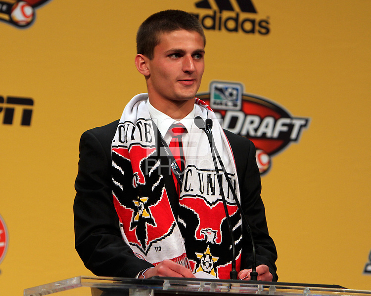 Perry Kitchen at the 2011 MLS Superdraft, in Baltimore, Maryland on January 13, 2010.