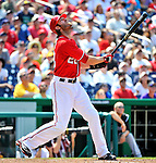 10 July 2011: Washington Nationals outfielder Jayson Werth in action against the Colorado Rockies at Nationals Park in Washington, District of Columbia. The Nationals shut out the visiting Rockies 2-0 salvaging the last game their 3-game series at home prior to the All-Star break. Mandatory Credit: Ed Wolfstein Photo