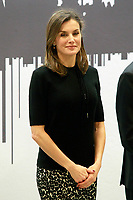 Queen Letizia of Spain during the presentation of the International Friendship Award to Chinese businessmen Eric X. Li, president of Chengwei Capital; Lin Liangqi, president of Akso Nobel China; Sun Yafang, president of Huawei; and Celina Chew, president of the Bayer Group in China. April 9, 2018. (ALTERPHOTOS/Acero) NortePhoto.com