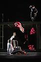 London, UK. 14.02.2013. The Barbican brings the critically acclaimed production of Eugene Ionesco's RHINOCEROS (1960), by Theatre de la Ville-Paris, to London. The company comprises: Charles-Roger Bour, Jauris Casanova, Valerie Dashwood, Philippe Demarle, Sandra Faure, Gaelle Guillou, Sarah Karbasnikoff, Stephane  Krahenbuhl, Serge Maggiani, Gerald Maillet, Walter N'Guyen, Hugues Quester, Pascal Vuillemot. Photo credit: Jane Hobson.