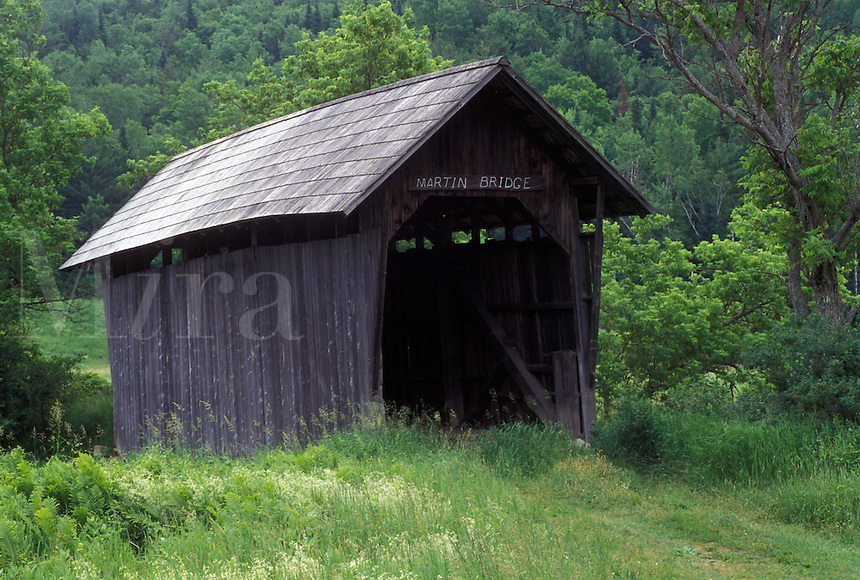 covered bridge, Vermont, VT, Martin Covered Bridge in Plainfield.
