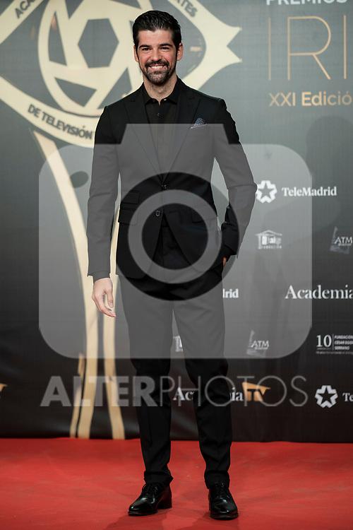 """Miguel Angel Muñoz attend """"Iris Academia de Television' awards at Nuevo Teatro Alcala, Madrid, Spain. <br /> November 18, 2019. <br /> (ALTERPHOTOS/David Jar)"""