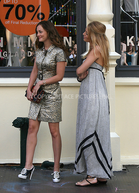WWW.ACEPIXS.COM ************....July 9 2009, New York City....Actors Leighton Meester and Blake Lively on the set of the TV show 'Gossip Girl' in Soho on July 9 2009 in New York City......Please byline: PHILIP VAUGHAN - ACEPIXS.COM.. *** ***  ..Ace Pictures, Inc:  ..tel: (646) 769 0430..e-mail: info@acepixs.com..web: http://www.acepixs.com