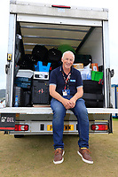 Gerry Byrne moving the bags to scotland after the final round of the Dubai Duty Free Irish Open, Ballyliffin Golf Club, Ballyliffin, Co Donegal, Ireland. 08/07/2018<br />