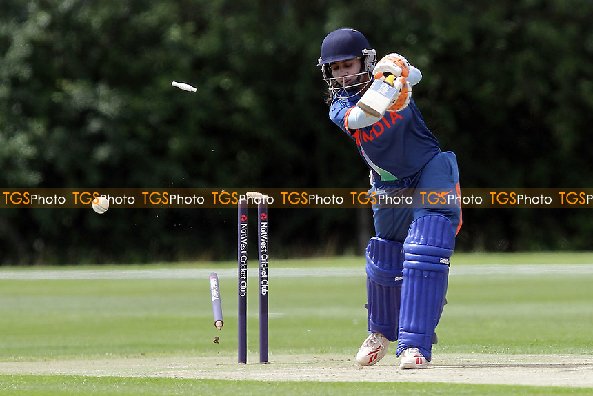 Mithali Raj of India is bowled out by Sarah Coyte - Australia Women vs India Women - NatWest Women's Quadrangular T20 Series Cricket at Billericay Cricket Club - 23/06/11 - MANDATORY CREDIT: Gavin Ellis/TGSPHOTO - Self billing applies where appropriate - Tel: 0845 094 6026