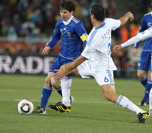 22 06 2010  FIFA World Cup 2010 FIFA World Championships 2010 Fight Group B Greece Argentina 22 06 2010 Peter Mokaba Stadium Polokwane Messi Lionel