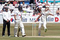 Josh Davey in bowling action for Somerset during Essex CCC vs Somerset CCC, Specsavers County Championship Division 1 Cricket at The Cloudfm County Ground on 26th June 2018