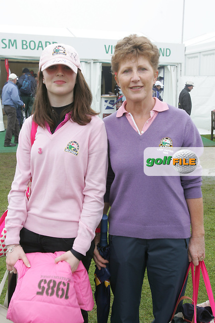 Lady Captain of Seapoint, Breda Moore with her daughter at the 3 Irish Open Golf in Baltray...Photo NEWSFILE/Jenny Matthews.(Photo credit should read Jenny Matthews/NEWSFILE)....This Picture has been sent you under the condtions enclosed by:.Newsfile Ltd..The Studio,.Millmount Abbey,.Drogheda,.Co Meath..Ireland..Tel: +353(0)41-9871240.Fax: +353(0)41-9871260.GSM: +353(0)86-2500958.email: pictures@newsfile.ie.www.newsfile.ie.FTP: 193.120.102.198.