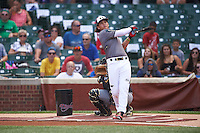 Bo Bichette (19) of Lakewood High School in Tierra Verde, Florida during the home run derby before the Under Armour All-American Game on August 15, 2015 at Wrigley Field in Chicago, Illinois. (Mike Janes/Four Seam Images)