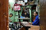 Shoemakers in Kairouan, Tunisia.