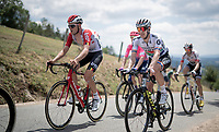Tiesj Benoot (BEL/Lotto-Soudal) & Daryl Impey (ZAF/Mitchelton-Scott) in the breakaway group & up the first categorised climb of the day<br /> <br /> Stage 9: Saint-Étienne to Brioude (170km)<br /> 106th Tour de France 2019 (2.UWT)<br /> <br /> ©kramon